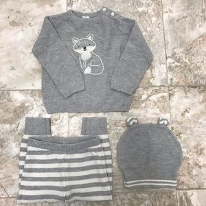 Carter's Just One You Gray 3 Piece Set Size 18M